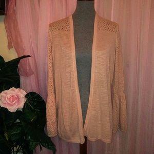 New Blush Pink Cardigan Sweater